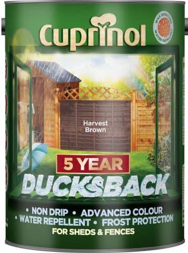 Cuprinol Ducksback 5L - Harvest Brown